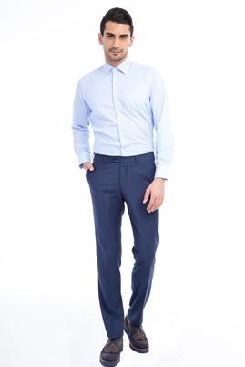 Erkek Giyim - Mavi 50 Beden Klasik Flanel Pantolon