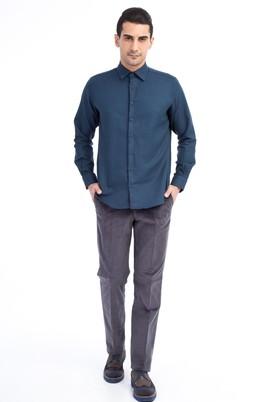 Erkek Giyim - Orta füme 48 Beden Kadife Pantolon
