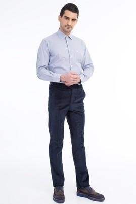 Erkek Giyim - KOYU MAVİ 54 Beden Kadife Pantolon