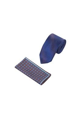 Erkek Giyim - Kahve 65 Beden Kravat Mendil Set