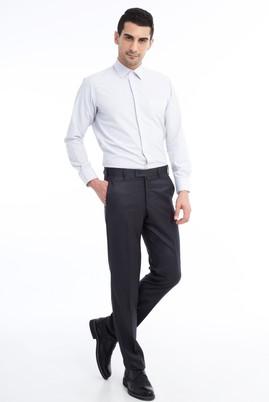 Erkek Giyim - Füme Gri 58 Beden Kuşgözü Klasik Pantolon
