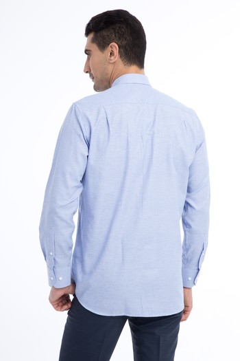 Erkek Giyim - Uzun Kol Çizgili Spor Gömlek