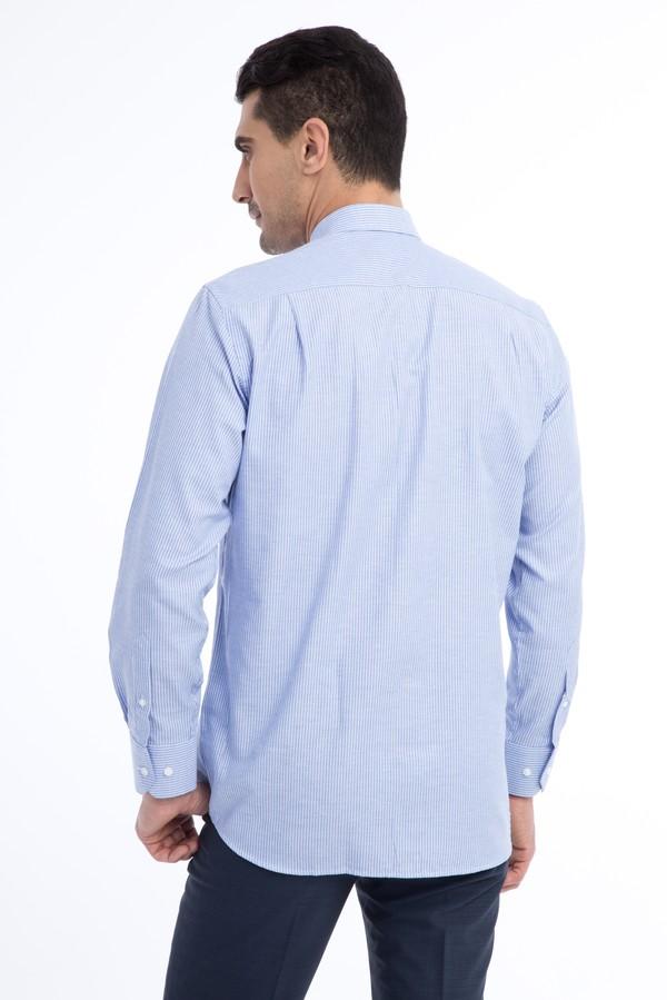 Uzun Kol Çizgili Spor Gömlek