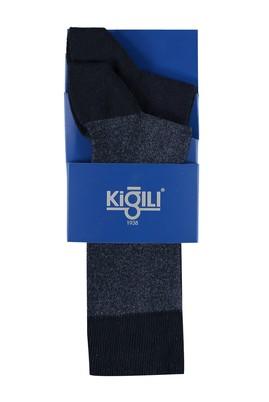 Erkek Giyim - Lacivert 39 Beden 2'lİ Desenli Çorap