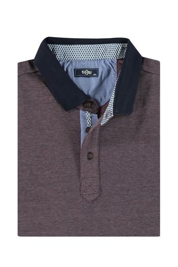 Erkek Giyim - King Size Polo Yaka Sweatshirt