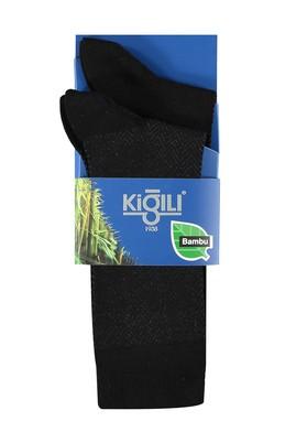 Erkek Giyim - Siyah 39 Beden 2'lİ Bambu Çorap