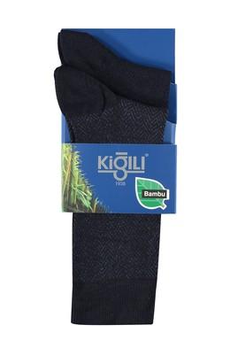 Erkek Giyim - Lacivert 39 Beden 2'lİ Bambu Çorap