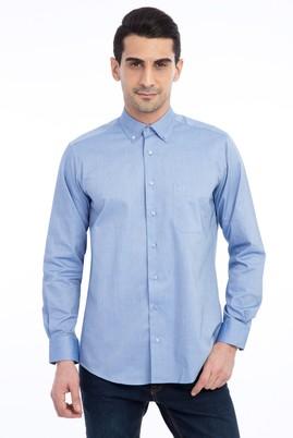 Erkek Giyim - Mavi XL Beden Uzun Kol Klasik Oxford Gömlek