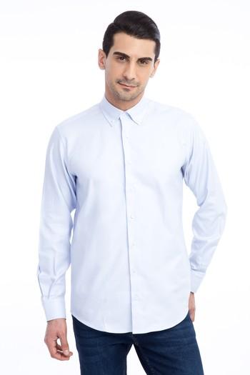 Erkek Giyim - Uzun Kol Regular Fit Spor Oxford Gömlek