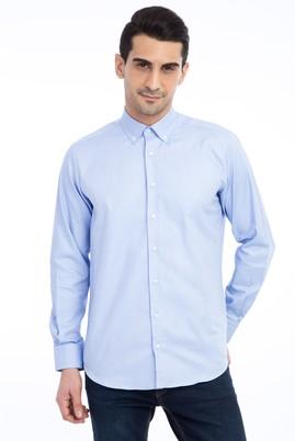 Erkek Giyim - Mavi M Beden Uzun Kol Spor Oxford Gömlek