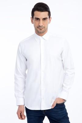 Erkek Giyim - Beyaz L Beden Uzun Kol Spor Oxford Gömlek