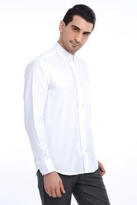Erkek Giyim - Beyaz XXL Beden Uzun Kol Klasik Oxford Gömlek