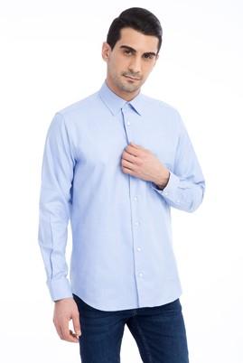Erkek Giyim - Mavi L Beden Uzun Kol Klasik Oxford Gömlek