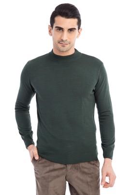 Erkek Giyim - Açık Yeşil L Beden Bato Yaka Triko Kazak