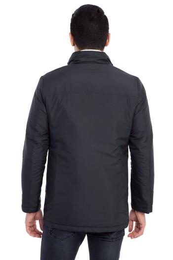Erkek Giyim - Dik Yaka Bonded Kaban
