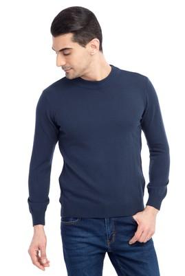 Erkek Giyim - Mavi S Beden Bato Yaka Triko Kazak