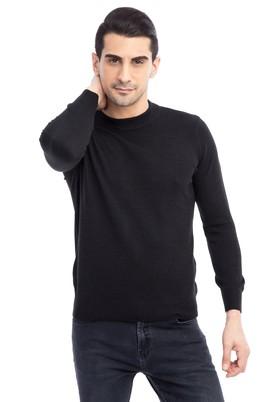 Erkek Giyim - Siyah L Beden Bato Yaka Triko Kazak
