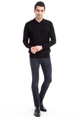 Erkek Giyim - Siyah 46 Beden Slim Fit Denim Pantolon