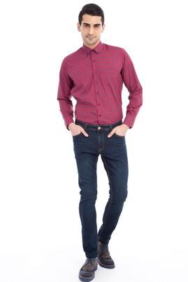 Erkek Giyim - Lacivert 50 Beden Slim Fit Denim Pantolon