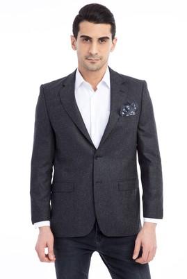 Erkek Giyim - Antrasit 52 Beden Kuşgözü Ceket