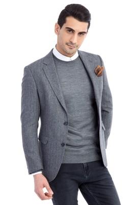 Erkek Giyim - Orta füme 54 Beden Balıksırtı Ceket