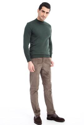 Erkek Giyim - KOYU YESİL 60 Beden Kadife Pantolon