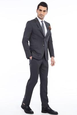 Erkek Giyim - Füme Gri 50 Beden Kuşgözü Takım Elbise