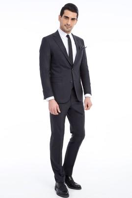 Erkek Giyim - ANTRASİT 46 Beden Slim Fit Yünlü Takım Elbise