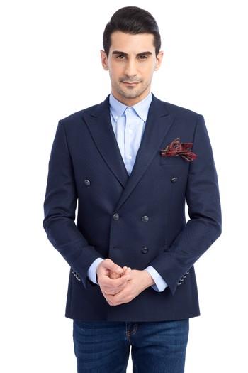 Erkek Giyim - Slim Fit Kruvaze Ceket