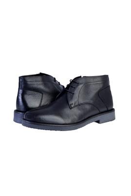 Erkek Giyim - Siyah 42 Beden Deri Bot