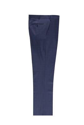 Erkek Giyim - KOYU MAVİ 50 Beden Ekose Klasik Pantolon