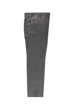 Erkek Giyim - ORTA FÜME 68 Beden Yünlü Kuşgözü Klasik Pantolon
