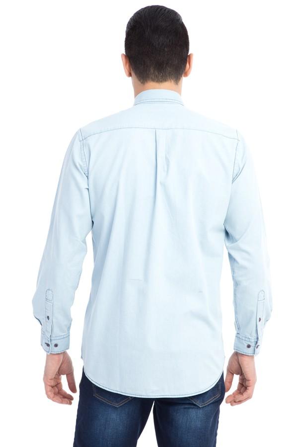 Uzun Kol Regular Fit Denim Gömlek