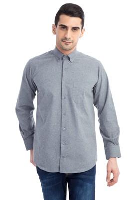 Erkek Giyim - Orta füme XL Beden Uzun Kol Oduncu Gömlek