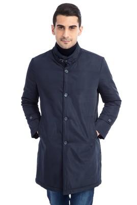 Erkek Giyim - Lacivert 50 Beden Klasik Pardösü