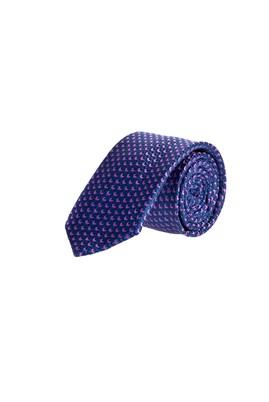 Erkek Giyim - Mor 65 Beden Desenli İnce Kravat