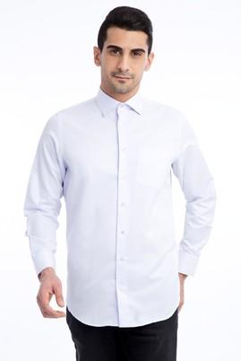 Erkek Giyim - Lila M Beden Uzun Kol Desenli Klasik Gömlek