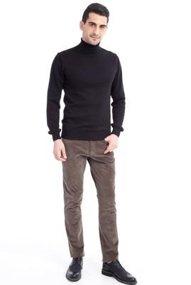 Erkek Giyim - Petrol 52 Beden Kadife Pantolon