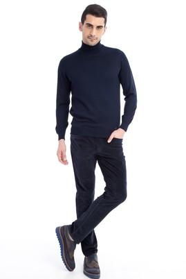 Erkek Giyim - KOYU MAVİ 50 Beden Kadife Pantolon