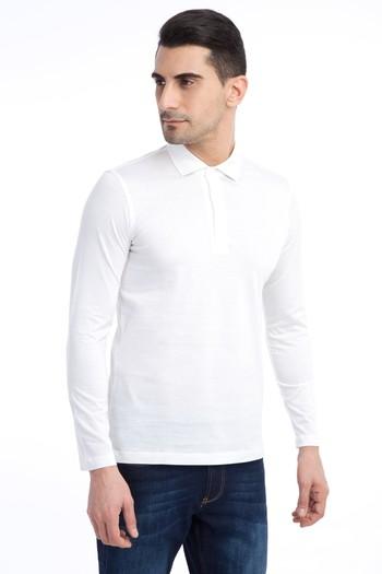 Erkek Giyim - Polo Yaka Merserize Sweatshirt