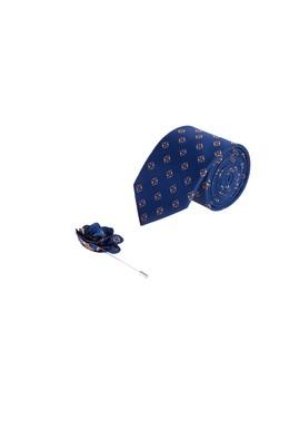 Erkek Giyim - Lacivert  Beden Kravat Yaka İğnesi Set