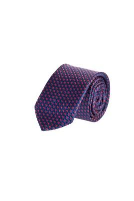 Erkek Giyim - Bordo 65 Beden Desenli İnce Kravat