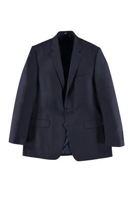 Erkek Giyim - LACİVERT 52 Beden Klasik Kuşgözü Yünlü Ceket