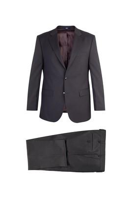 Erkek Giyim - Kahve 54 Beden Ekose Takım Elbise