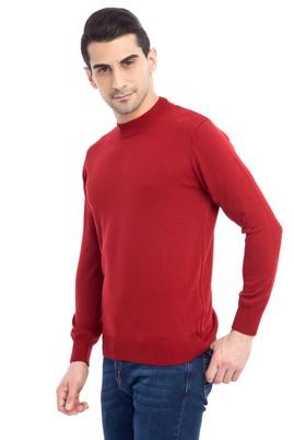 Erkek Giyim - KİREMİT L Beden Bato Yaka Triko Kazak