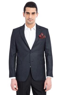 Erkek Giyim - Antrasit 50 Beden Slim Fit Kuşgözü Ceket
