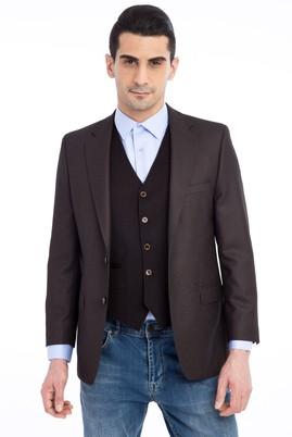 Erkek Giyim - KOYU KAHVE 50 Beden Kuşgözü Ceket