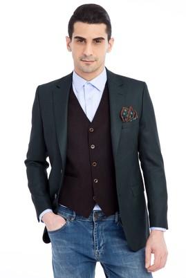 Erkek Giyim - KOYU YESİL 54 Beden Kuşgözü Ceket