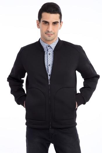 Erkek Giyim - Fermuarlı Scuba Sweatshirt