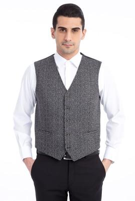 Erkek Giyim - Orta füme 52 Beden Klasik Yelek